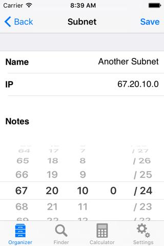 Screenshot of Subnet Calc Pro