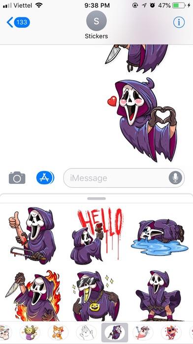 Halloween Death Funny Stickers screenshot 2