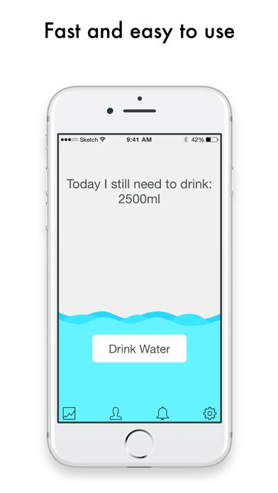 水を飲むリマインダ-健康に飲んでフィットネスのおすすめ画像3
