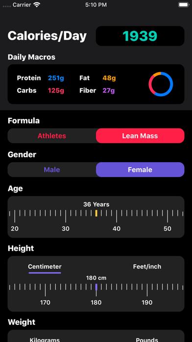 IIFYM Macro/Calorie Calculatorのおすすめ画像2