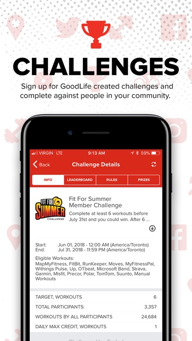 Screenshot for GoodLife Fitness in Canada App Store