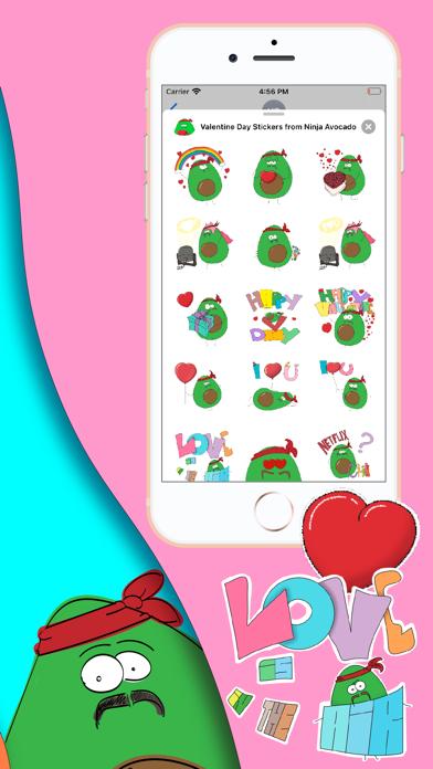 Valentine Day & Ninja Avocado Screenshot