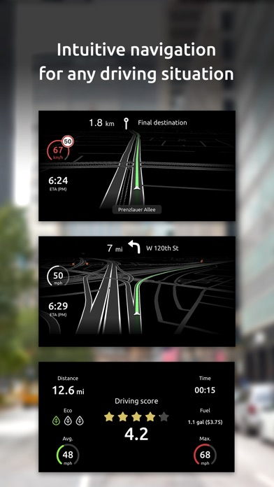 Screenshot for Hudway Go: Navigation with HUD in Hong Kong App Store