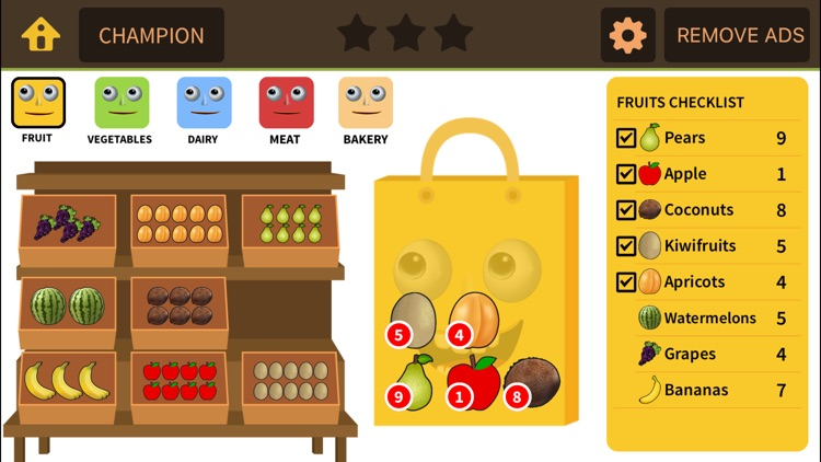 Grocery Game for 1st 2nd Grade