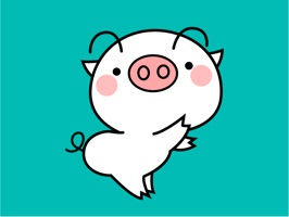 Fatty Pig Animated Stickers for iMessage: