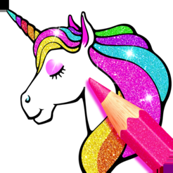 Rainbow Glitter Coloring Book On The App Store