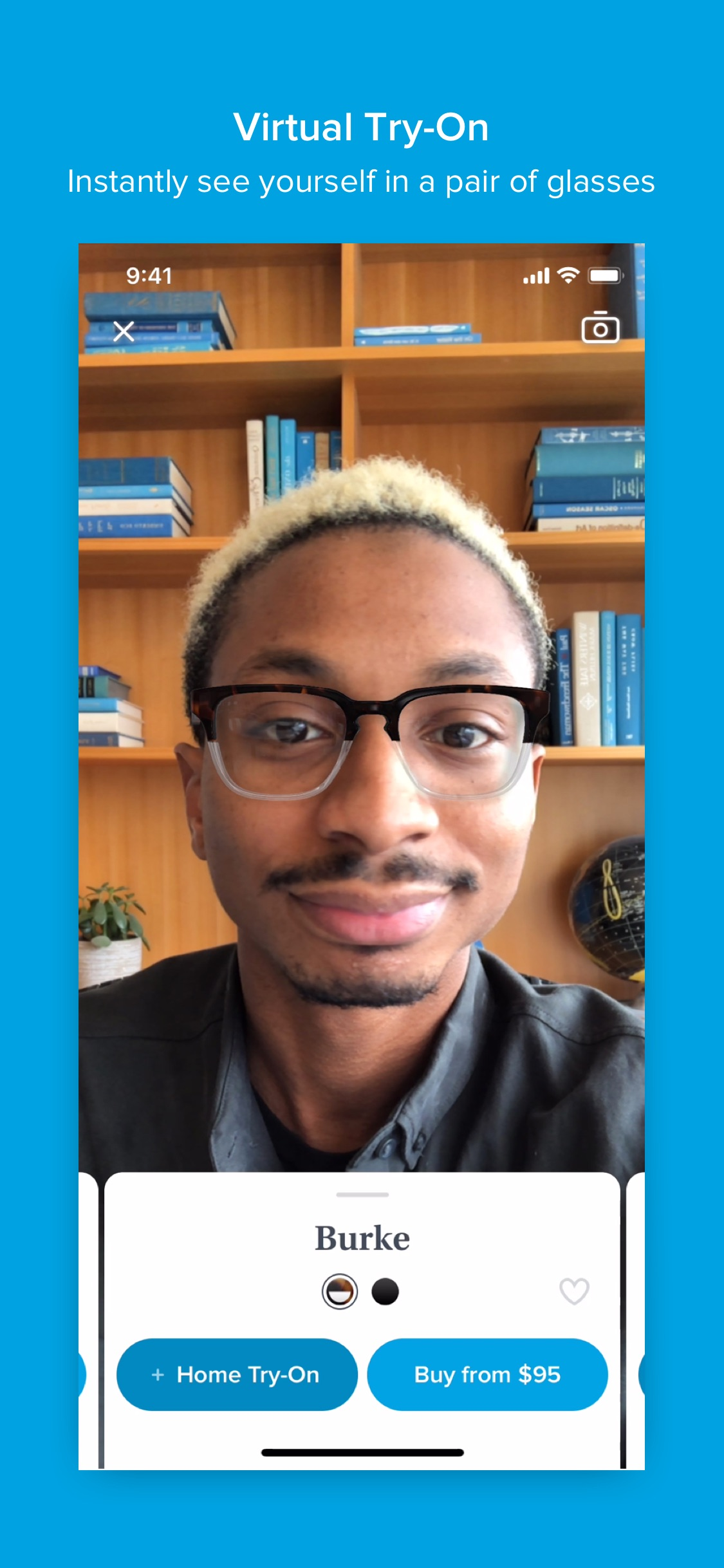 Screenshot do app Glasses by Warby Parker