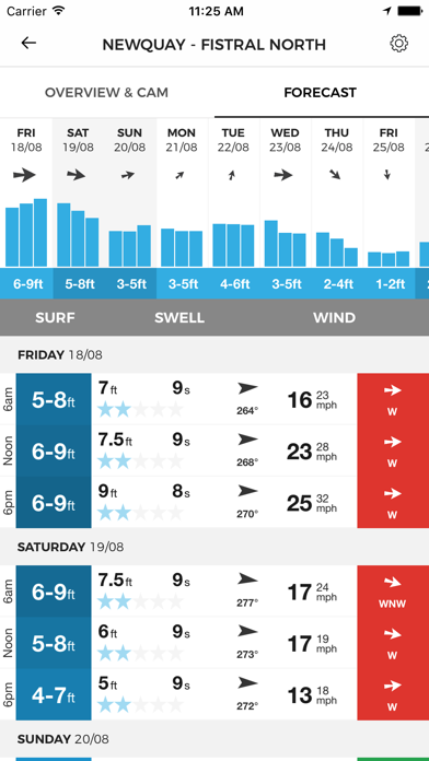 MSW Surf Forecast på PC