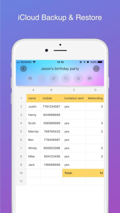 Simple Spreadsheet screenshot-4