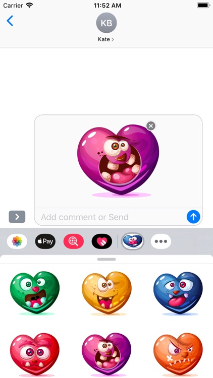 Dirty Hearts Stickers Pack screenshot-3