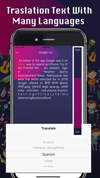 Text to Speech - Music Player screenshot-3