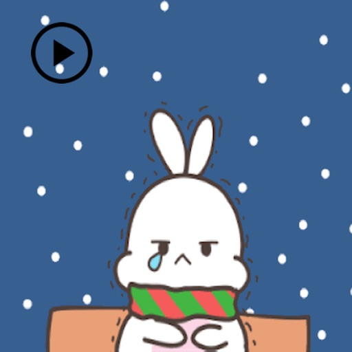 Animated Cute Rabbit In Winter