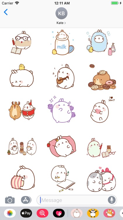 Cute Cartoon Bunny Stickers