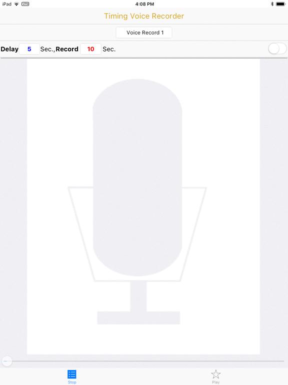 Timing Voice Recorder Screenshots