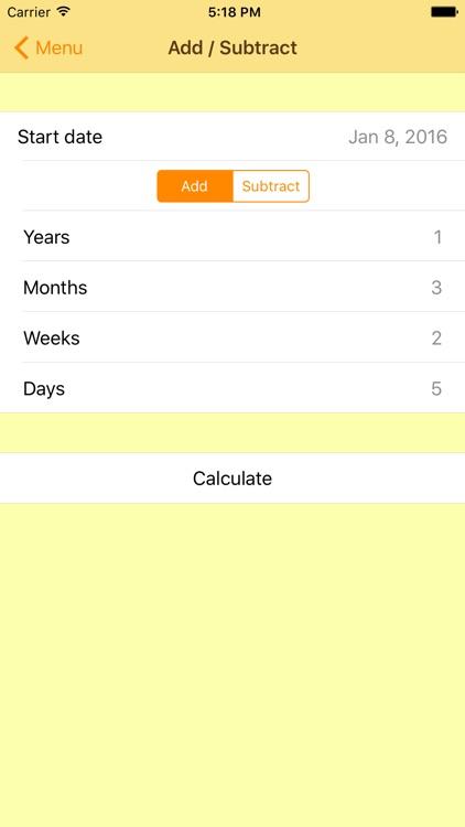 The Date Calculator PRO screenshot-3