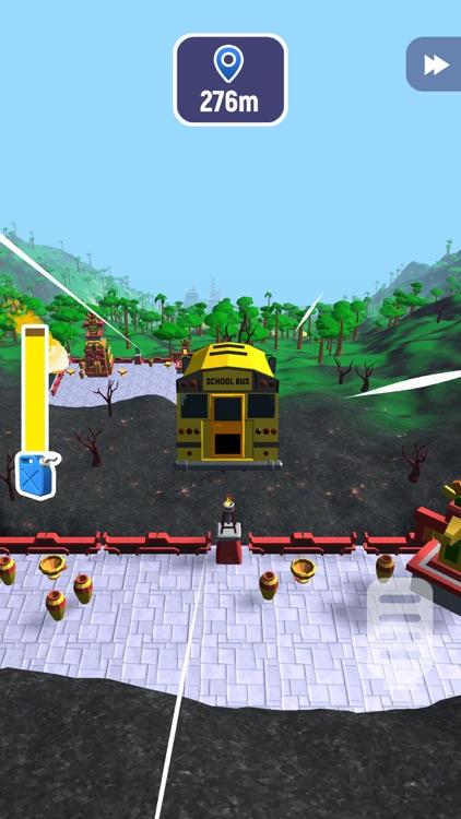 疯狂速递: 汽车跳跃和毁灭模 screenshot-3