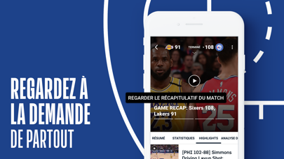 Screenshot #3 pour NBA Officiel : basket en live