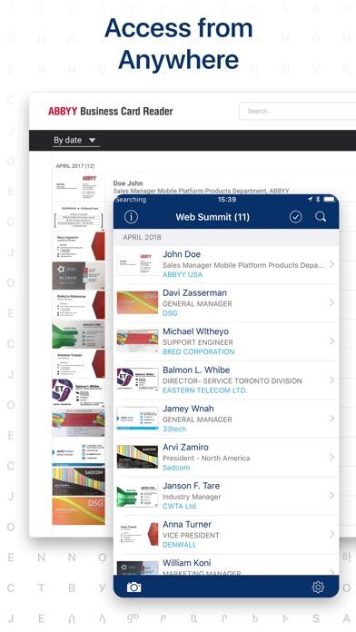 Business Card Reader. BCR Pro Screenshots