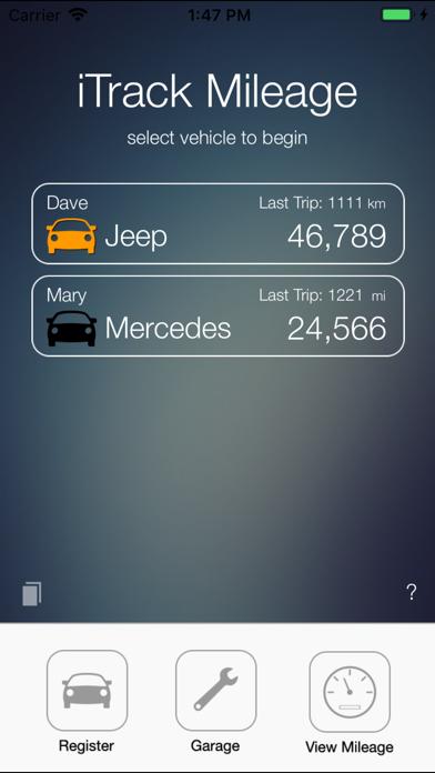 iTrack Mileage Calculator screenshot two