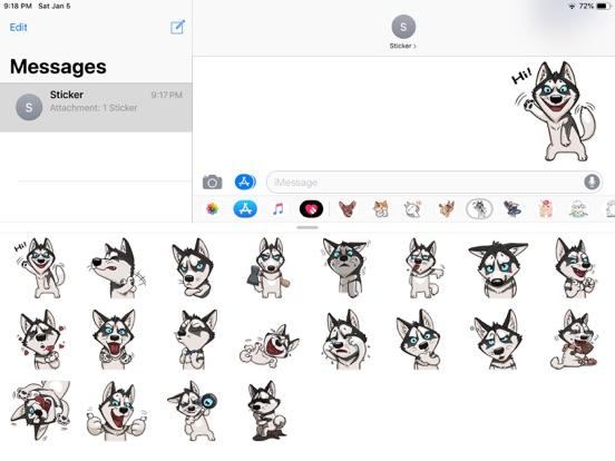 Husky Dog Funny Stickers screenshot 4