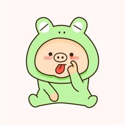 Pig Dressed Up Animated