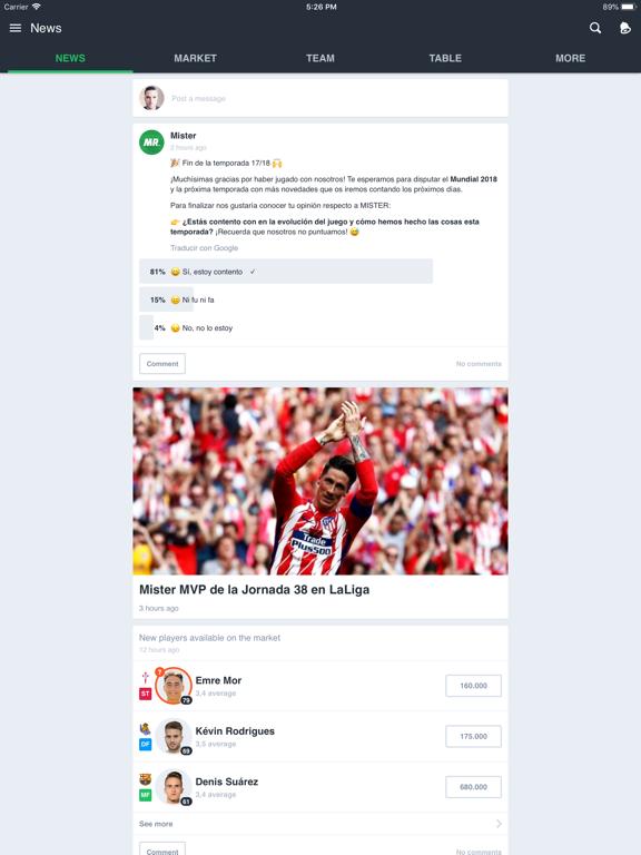 BEMANAGER - Fantasy Soccer screenshot