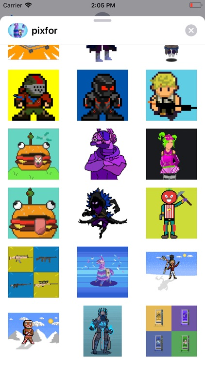 Pixel Stickers for Fortnite