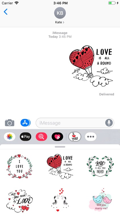 Cute Love Text Stickers Pack screenshot-4