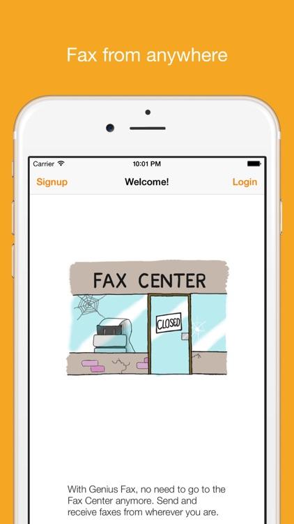 Genius Fax - Fax PDF documents