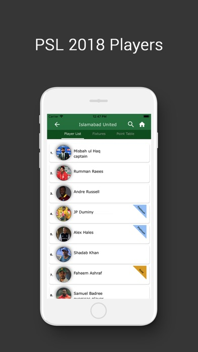 Screenshot for PSL - Pakistan Super League in Pakistan App Store