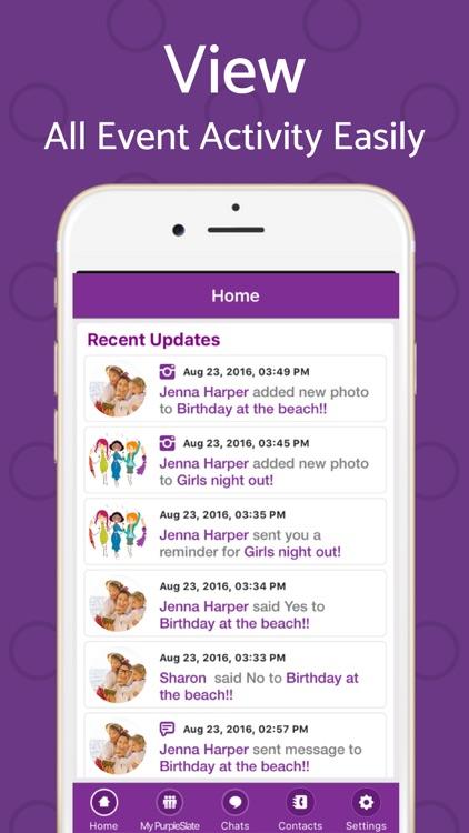 Text Invite Maker: PurpleSlate screenshot-7