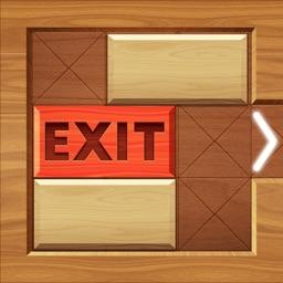 EXIT : unblock red wood block