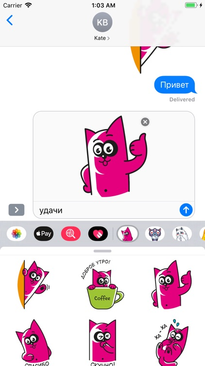 Pinky Cat Stickers