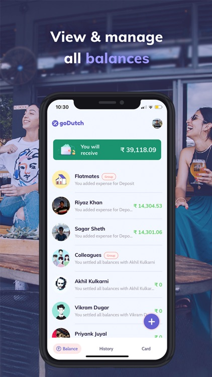 goDutch - Split group bills screenshot-3