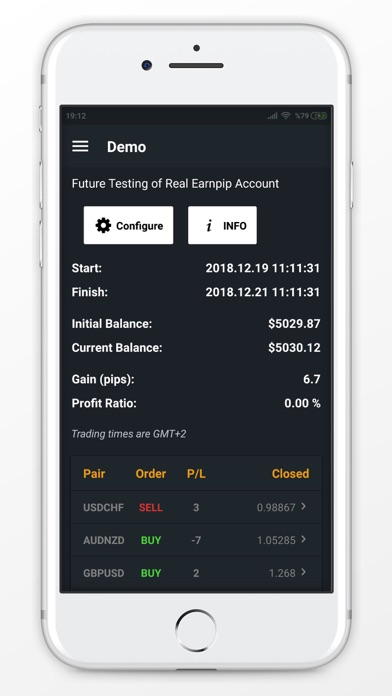 Screenshot of Earnpip - Live Forex Signals App