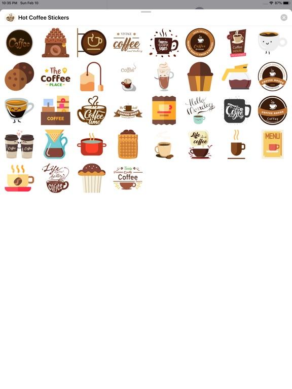 Hot Coffee Stickers screenshot #2