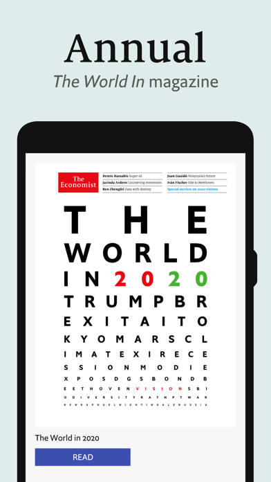 The Economist weekly US issue Screenshot