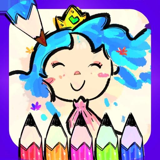 Princess Coloring Book Drawing By Bonbongame.com
