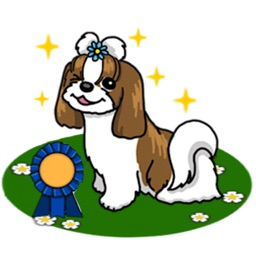 Adorable Shih Tzu Dog Sticker