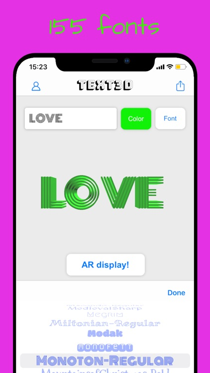 Text3D - Text to AR screenshot-5