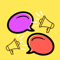 App Icon for easy talk animated stickers App in Greece IOS App Store