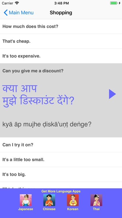 Speak Hindi Travel Phrasebook