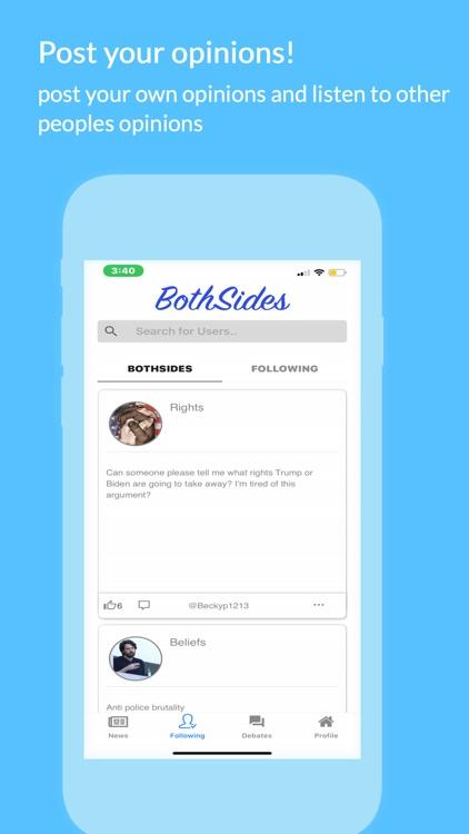 Both Sides - politics App screenshot-3