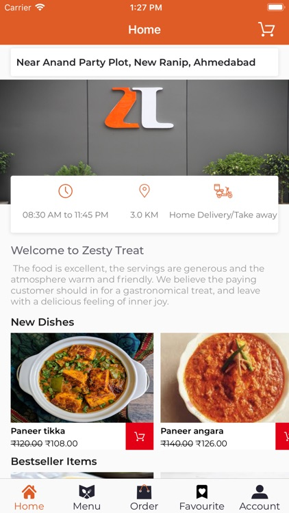 Zesty Treat Food Delivery