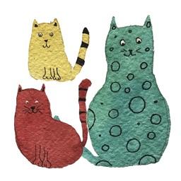 Cartoon Cat Sticker Pack