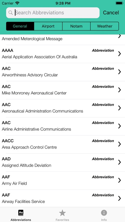 Pilot Abbreviations & Acronyms screenshot-2