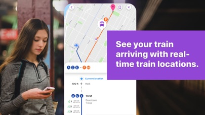 Screenshot for Pigeon - NYC Subway Transit in United States App Store