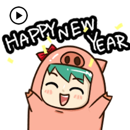 Animated Happy Pig Year 2019
