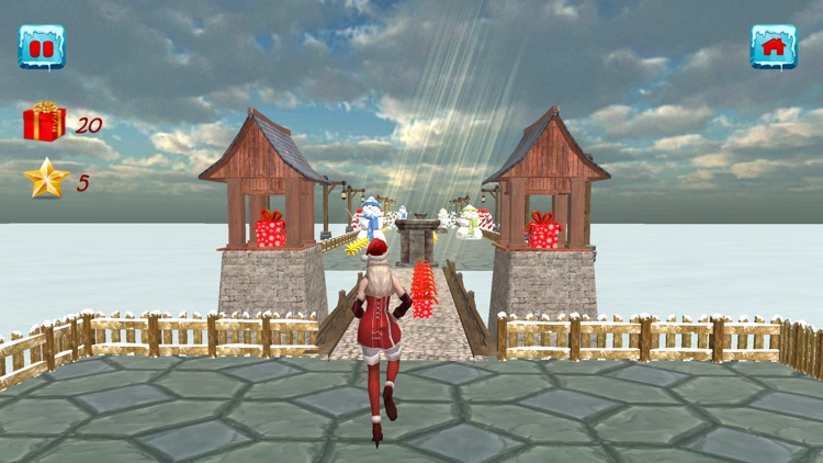 Christmas Santa Girl Run screenshot-3