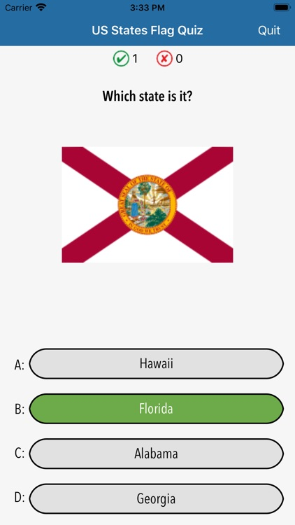 US States Flags Seals Quiz screenshot-6